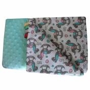 Minky Baby Blanket Play Blanket Rocking Horse Blanket Super Soft and Fluffy Handmade Stars