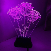 REDOI 3D Luminous LED Lights Unique Three-Dimensional Art Visual Valentine'S Day Amazing Delusion Christmas Mother'S Day Gift