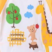 COFCO . Cute Cartoat Baby Waterproof Latg Sleeve Bib / Aprat / Smock