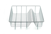 Weis Dish Drainer, Stainless-Steel, Silver, 35 x 35 x 10 cm