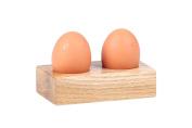 Hollyberry Home Egg Holder, Wood, Multicolour, 6.5 x 14 x 9 cm