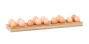 Hollyberry Home Holder for 18 Eggs, Wood, Multicolour, 6.5 x 56 x 15 cm