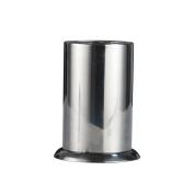 OUNONA Thicken Stainless Steel Utensil Organiser Flatware Holder with Base for Countertop Storage 17x15cm