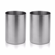 iEFiEL 2PCS Unbreakable Stainless Steel Beer Mug Lowball Tumbler For Children and Adults 300ml