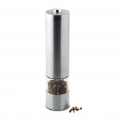 Stainless steel electric pepper (or salt) mill - matt silver