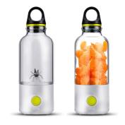 Food Grade Tritan Juicer Cup, Portable and USB Rechargeable Personal Blender, Juice Mixer 600ML Green 1 Pcs