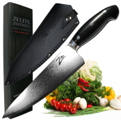 ZELITE INFINITY Chef Knife 8 Inch __ Executive-Plus Series __ Best Quality Japanese VG10 Super Steel 67 Layer High Carbon Stainless Steel, Incredible G10 Handle, Full-tang, Ultra-Deep 56mm Chefs Blade