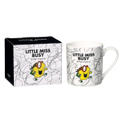 Mr Men and Little Miss Busy Mug, Bone China, White, 9.2 x 11.5 x 9.8 cm