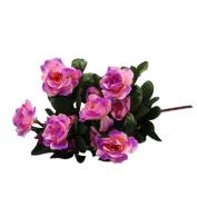 Artificial Flowers Azalea, HUHU833 Artificial Silk Floral Wedding Bouquet Bridal Hydrangea Decor