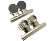 6PCS 31mm Magnetic Metal Paper File Binder Clips-Office School Magnetic Clip Hooks Workspace Organiser