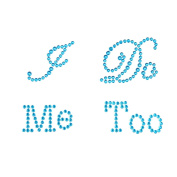 "Syndecho ""I Do"" ""Me Too"" Crystal Rhinestone Wedding Shoes Stickers Shoes Applique Decals"