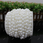 10m/Roll 8mm Artificial Pearl Garland Beads String Curtain Hanging Bead Curtain Wedding Club Party Decoration