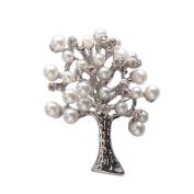 Demiawaking Elegant Bouquet Brooch, Crystal Rhinestone Flower Brooch Pins Corsage Wedding Bouquet Decor for Women