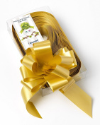 CONF. 50 Bows Rapid Ribbons – Gold – 50 mm – Wedding Christmas Decorations