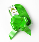 CONF. 50 Bows Rapid Ribbons – Apple Green – 50 mm Baubles Decorations Staging