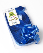 CONF. 50 Bows Rapid Ribbons – Blue – 31 mm – Wedding Christmas Decorations