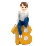 mopec Figure Cake Boy with Shirt, Polyresin, Yellow, 8 x 13 x 23.5 cm