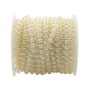 25m/Roll 6mm Artificial Half Round Pearl Beads String Curtain Hanging Bead Curtain Wedding Club Party Decoration