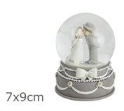 Ball of glass spouses newlyweds resin wedding bombonniere