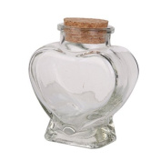 Mini Heart Shape Glass Favour Storage Jars Bottle Containers with Cork by Anty-ni
