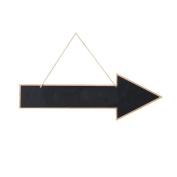 mopec Slate Hanging Arrow Shaped, Wood, black, 3 X 60 X 20 cm