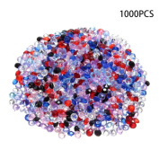 Dreammy 1000 pcs Scatter Diamonds Table Crystals Acrylic Confetti Wedding Party Mixed Colour