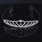 kimberleystore Beautiful Delicate Shining Rhinestones Crown Tiara with Comb for Child Wedding Bridal Prom
