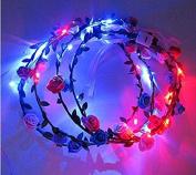 Nalmatoionme Creative LED Wreath Flower Hairband