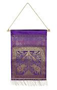 Indian Silk Pocket Door Hanging Storage Wall Hanging Organiser