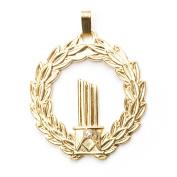 Gold Masonic Broken Column Pendent