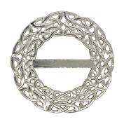 Fine Pewter Deep Celtic Braid Scarf Ring, Handcast By William Sturt