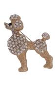 Brooch Boutique Large Gold Plated Crystal Poodle Dog Brooch