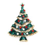 Culater® Cute Rhinestone Christmas Tree Brooch Pin Xmas Gift Christmas Gifts