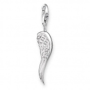Thomas Sabo Women-Charm Pendant Angel wing Charm Club 925 Sterling Silver Zirconia white 0413-051-14