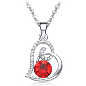 "NEEMODA ""Sweet Heart"" Heart Pendant Necklace with Crystals Luxury Gift Box"