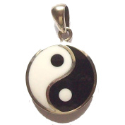 Peter Stone(TM) Sterling Silver Yin Yang Pendant