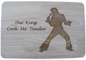 ELVIS PRESLEY PREMIUM HARDWOOD THE KING OF ROCK AND ROLL GIFT IDEA WOOD CHOPPING CUTTING CHEESE BOARD PLACE MAT ENGRAVED WOODEN NOVELTY COOKING BAKING PRESENT LASER ENGRAVED by FASTCRAFT 35x24x1.5 cm