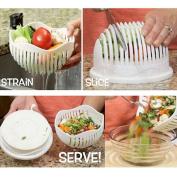 Salad Maker Bowl Vegetable Fruit Slicer -Salad Cutter / Salad Chopper / Salad Spinner Basket