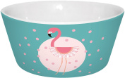 Infinite by Geda Labels (Infkh) 15923 Flamingo _ _ turquoise with dots Porcelain Bowl V Cereal Bowl, Porcelain Bowl, Turquoise/Pink, 13, 5 x 6 cm