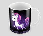Hiros®Unicorn Gift idea , I m silently judging you , Gift for child , Girlfriend , Birthday gift , Holiday gift , would make a big smile on anyone face , Novelty gift mug .