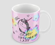 Hiros®Crazy Unicorn Lady , funny unicorn lady gift mug , Holiday gift , Christmas gift idea .330ml ceramic mug .