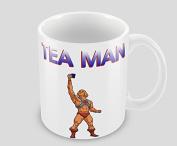 Hiros®TEA MAN 330ml Ceramic Funny Office Tea Coffee Gift Mug , Gift for anyone , Christmas Gift Idea , Unique, funny mug.