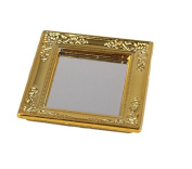 JinZhiCheng 1/12 Doll House Miniature Mirror with Gold Frame