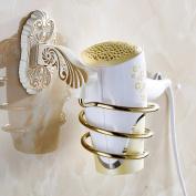 Hair Dryer Holder,Hair Dryer Shelf,Hair Blow Dryer Holder, European-style hair dryer rack wall-mounted hair dryer holder Bathroom racks-A
