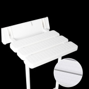 Folding Wall Bench Shower Seat Wall Chair Bathroom Stool Footstool With Legs