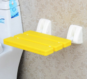 Folding Wall Bench Shower Seat Wall Chair Bathroom Stool Footstool