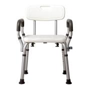 ERRU- Shower Chair Shower Chair Disabled Elderly Pregnant Women Aluminium Alloy Height Adjustable Anti-skid Bath Stool
