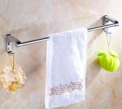 Hctina Towel Rack Bathroom Kitchen Wall Mounted Towel Bar Rail Shelf Storage Holder Stainless Steel,60Cm