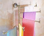 Hctina Towel Rack Bathroom Kitchen Wall Mounted Towel Bar Rail Shelf Storage Holder 30*39Cm