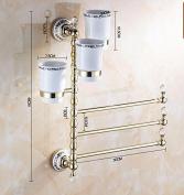 Hctina Towel Rack Bathroom Kitchen Wall Mounted Towel Bar Rail Shelf Storage Holder 30*46Cm
